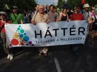 A Háttér tagjai is minden évben részt vesznek a Budapest Pride felvonuláson