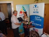 2012-ben egyesületünk kapta Amerikai Nagykövetség Aktív Állampolgárság Díját