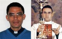 Rafael Reatiga és Richard Piffano plébánosok