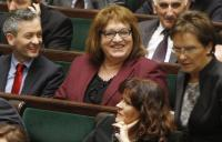 Robert Biedron és Anna Grodzka a parlamenti padsorokban