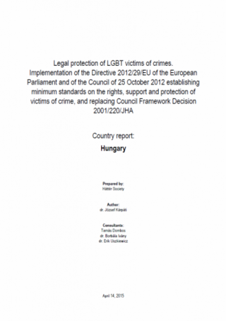 Legal protection of LGBT victims of crimes