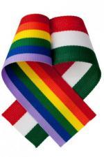 Szivárvány- és nemzeti színű kokárda az összefogásért