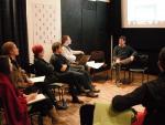 Előadás az online gyűlöletbeszéd elleni képzésen